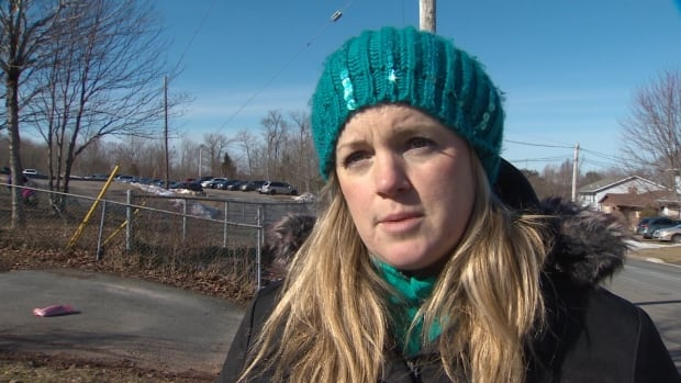 Lower Sackville resident Gina Bright talks about motorists who speed through her Cavalier Drive neighbourhood.