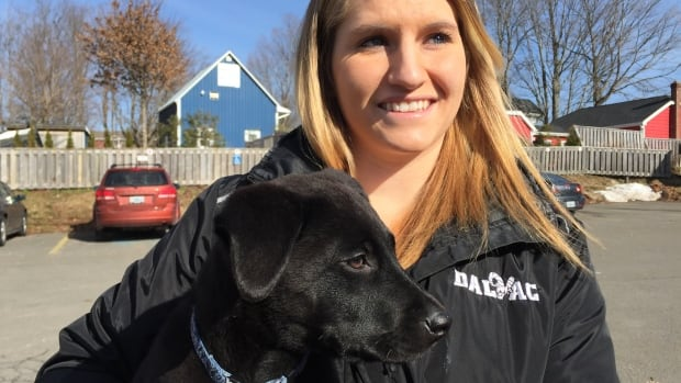 Whitney Shaver of Truro has been training Sam, a rescue pup from Sipekne'katik First Nation, to be a service dog.