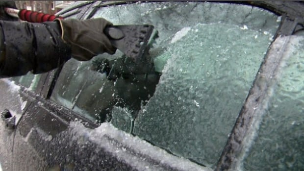 Residents of Waterloo Region had to scrape the ice off their windshields Thursday after a winter storm pelted the region with ice rain.
