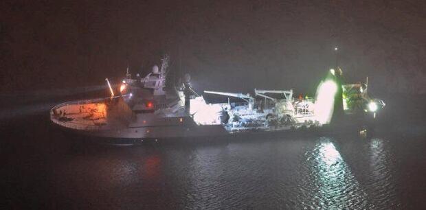 Damaged F/V Saputi in Nuuk