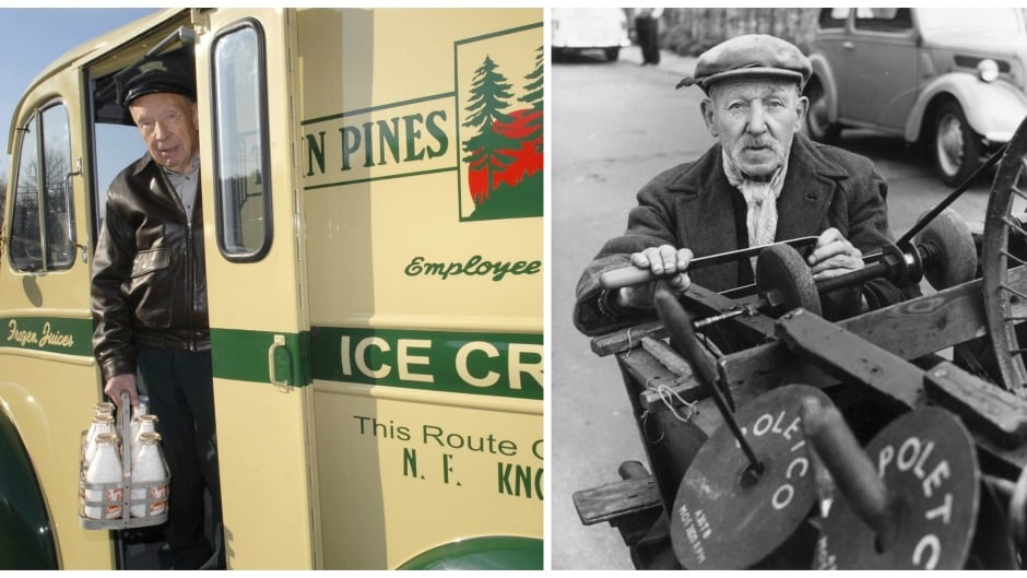 where have all the milkmen sidewalk knife sharpeners and cbc a former milkman looks out the door of a restored 1950 s divco milk truck knife