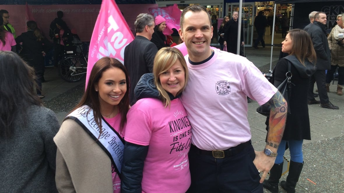 Police, firefighters, schools join Pink Shirt Day across B.C. ...