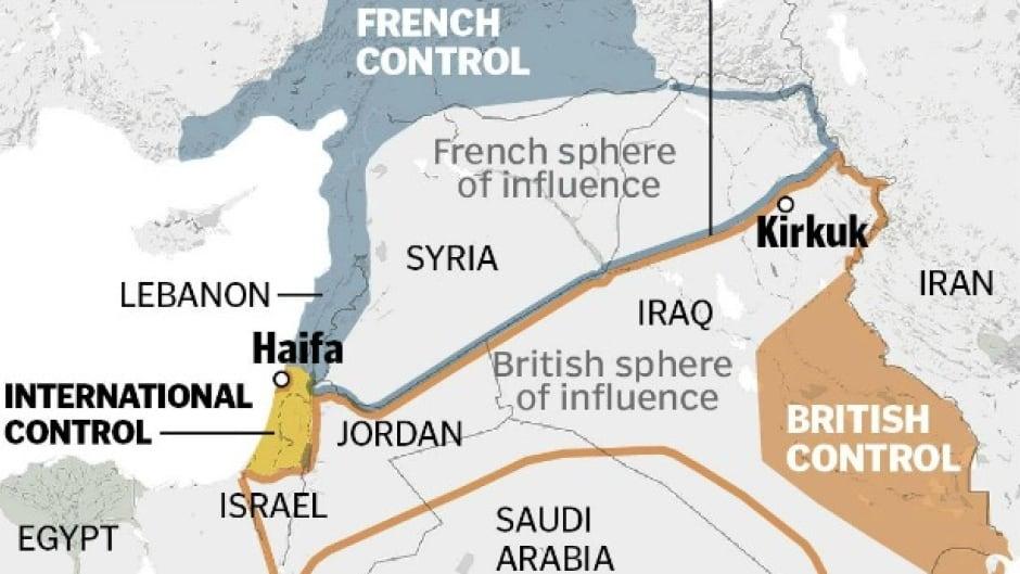 Sykes-Picot Map, 1916