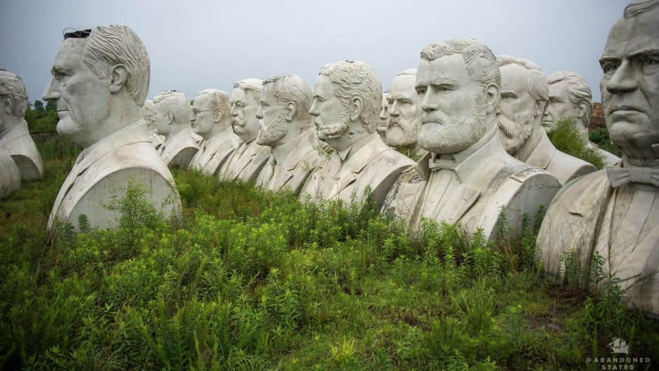 A collection of some of the busts on Howard Hankins' farm in Croaker, Virginia.