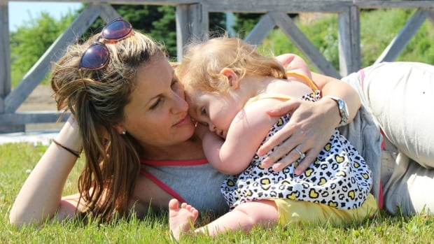 Amy Donnelly, with the Halifax Nova Scotia Down Syndrome Society, is pictured with her daughter Ivy.