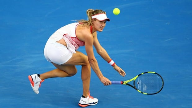 Eugenie Bouchard's run at the Qatar Open came to an end on Wednesday with a straight-sets loss to Zheng Saisai of China.