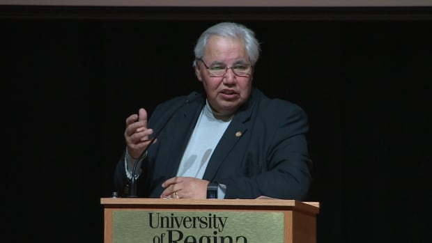 Justice Murray Sinclair, chair of the Truth and Reconciliation Commission, spoke in Regina Wednesday.