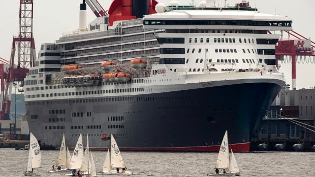Cunard Cruise Line's Queen Mary 2 is seen at berth in Halifax on July 10, 2015.