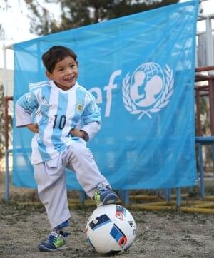 UNICEF Ahmadi Boy with Ball