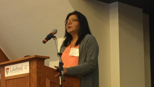 """""""I believe those victims of crime, victims of sexual abuse, are those individuals who continue to represent the rate of suicide in our communities,"""" says Nishnawbe Aski Nation deputy grand chief Anna Betty Achneepineskum"""