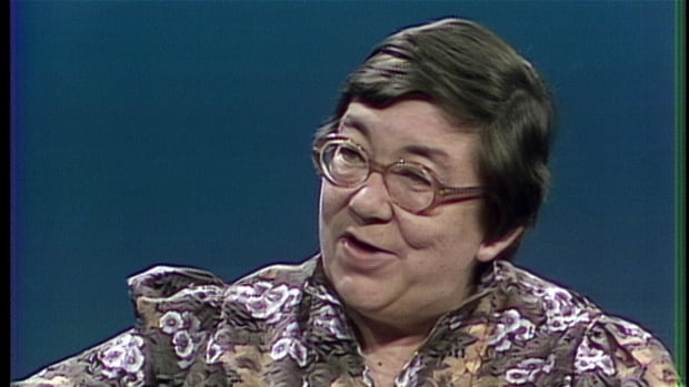 Margaret Laurence, seen here in a CBC story that aired in 1979, has been designated a person of national historical significance by Parks Canada, nearly 30 years after her death.