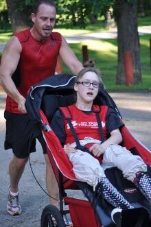 Carl Seier and Allie Onslow in Manitoba Marathon