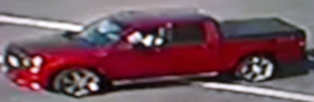 SURREY RCMP LOOKING FOR RED TRUCK