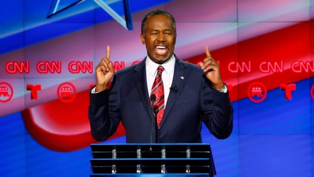 Republican U.S. presidential candidate Ben Carson invoked 'fruit salad' at the party's debate in Houston Thursday night.