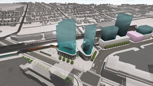 An artist conception of what the new transit hub could look like.