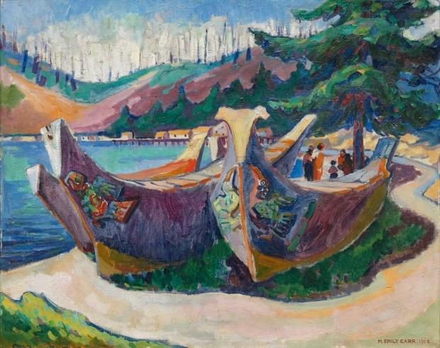 Emily Carr War Canoes Alert Bay