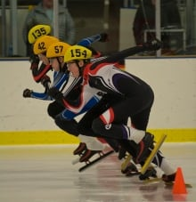 Yukon speed skaters Edmonton