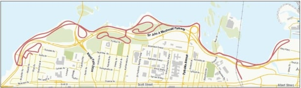 Sir John A Macdonald Winter Trail Map