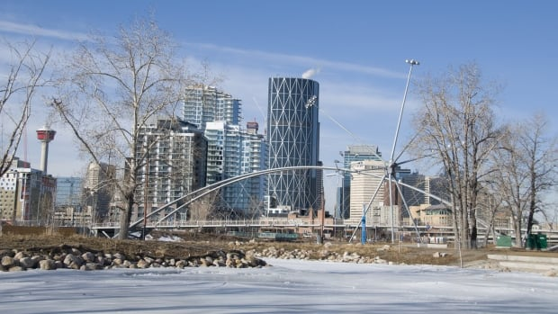 A wintry scene of Calgary's St. Patrick's Island. Meg Wilcox takes an in-depth look at  public art and what it says about us as a city.