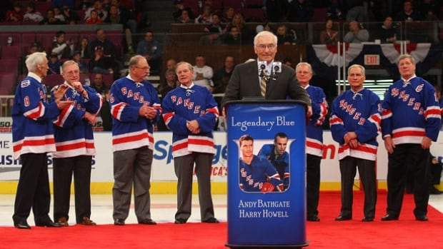 Hockey Hall of Famer Andy Bathgate whose number 9 was retired by the New York Rangers in a 2009 ceremony has died at the age of 83.