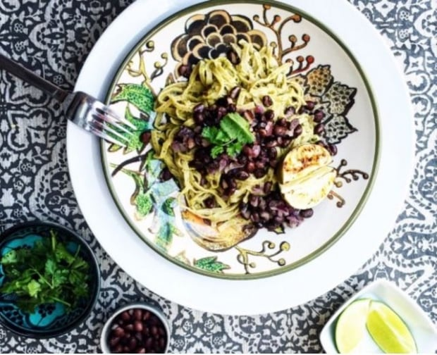 Skinny Pasta Mexican Avocado Linguine