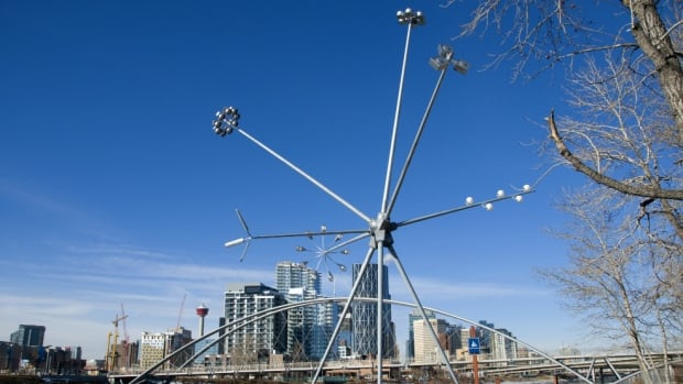 'Bloom' stands tall on Calgary's St. Patrick's Island.