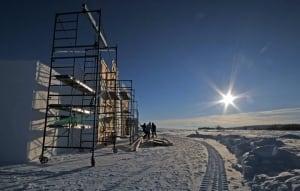 Snow Castle construction