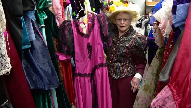 Myrna Kingscote displays some of the many options for getting gussied up for Whitehorse's Sourdough Rendezvous festival.
