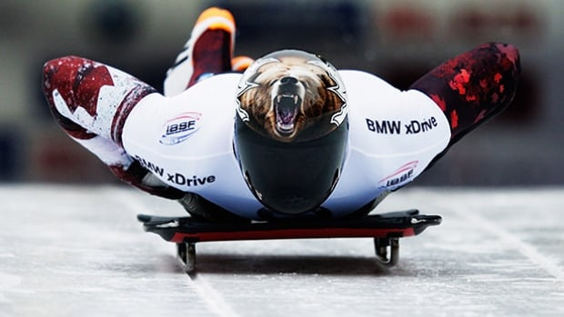 Dave Greszczyszyn of Canada competes at the final IBSF skeleton World Cup stop of the season in Konigsee, Germany on Saturday.