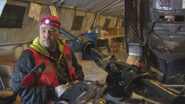 Canadian Ranger Dwayne Nataway had snowmobile trouble during his travel from Lutselk'e.