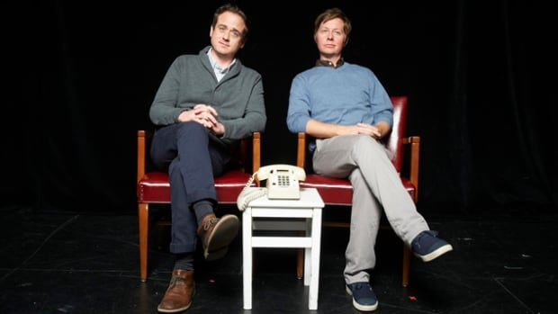 Pat Kelly (left) and Peter Oldring will be bringing their fake news act to Vancouver's real Vogue Theatre on Feb. 27.