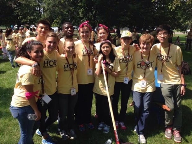 Natalie Burt-Carrol seen with HOBY cleaning parks