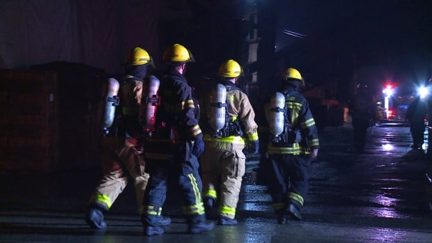 Firefighters from both Maple Ridge and Mission worked to contain a fire at S&W Forest Products Ltd.