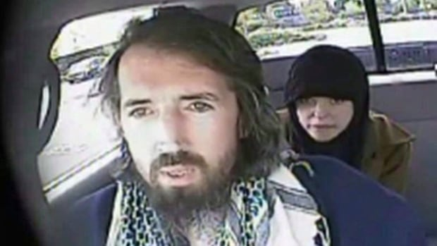 John Nuttall and Amanda Korody, shown here in a still image taken from an RCMP undercover video., were released, rearrested, and rereleased Friday in Vancouver.