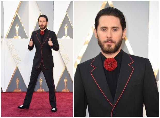 Jared Leto Oscars 2016 red carpet by Valerie Macon for Getty