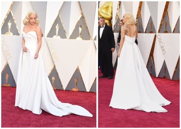 Lady Gaga Oscars 2016 by Valerie Macon and Jason Merritt for Get