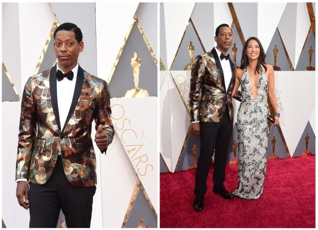 Orlando Jones Oscars 2016 red carpet by Valerie Macon and Freder