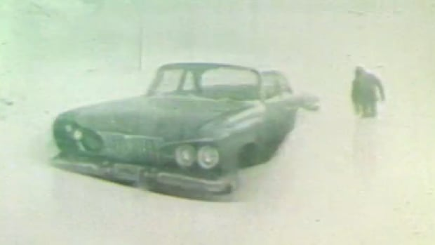 A blizzard dumped loads of snow on Winnipeg in March of 1966.