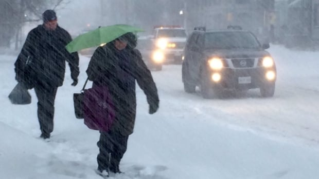Snow, ice pellets and freezing rain are all forecast for Nova Scotia today as a storm passes through the region.