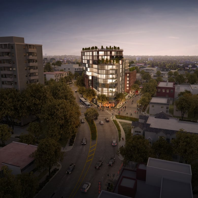 Grandview Pointe Apartments: A Rendition Of A 12 Storey Tower Proposed For Commercial