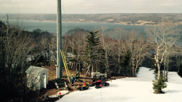 Ben Eoin ski hill is the site of one of 400 towers Seaside Wireless Communications operates across northeastern Nova Scotia.