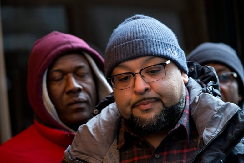 Parking Production Assistant Christian Pellot Speaks During A News Conference Wednesday Feb 24 2016 New York Workers Who Secure Street For