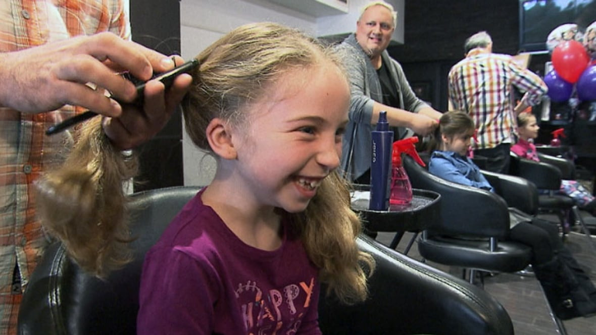Quebec salon owner teaches dads how to style hair - Voila institute of hair design kitchener ...