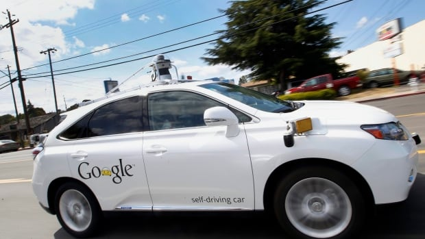Google's self-driving Lexus motors along during a demonstration in Mountain View, Calif., on May 13, 2015. A Google self-driving car going 3 km/h struck a public bus going 24 km/h this past Valentine's Day.