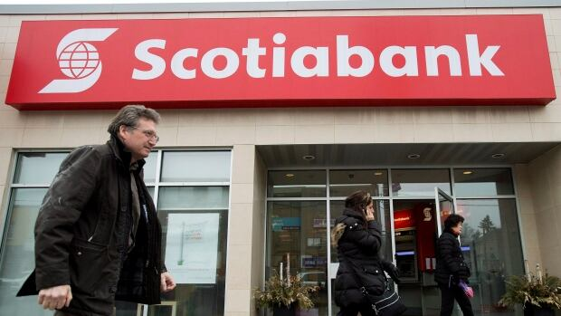 Scotiabank is boosting its quarterly dividend by two cents to 72 cents per share.