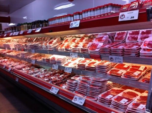 Gateway Meat Market meat shelves