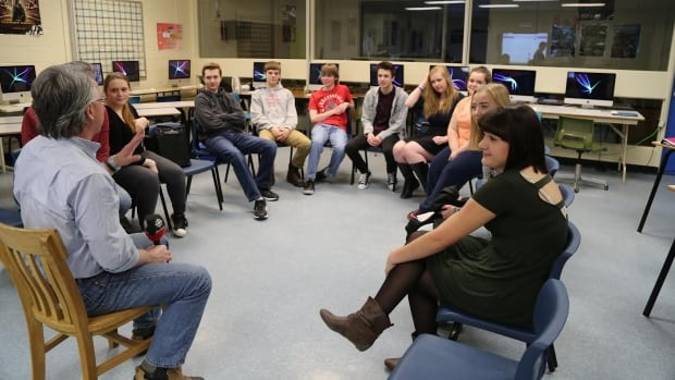 Students from Oromocto High School told CBC host Terry Seguin about their relationship with their phones with many saying they often text during class.