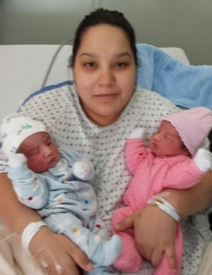 Chartrand twins and mom