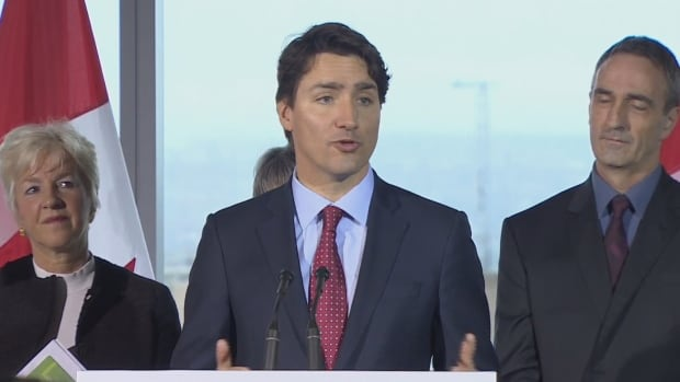 Prime Minister Justin Trudeau speaks at the launch of a green economy initiative called 'Smart Prosperity' in Vancouver, on March 1, 2016. Trudeau is in B.C. ahead of meetings with the premiers later this week.