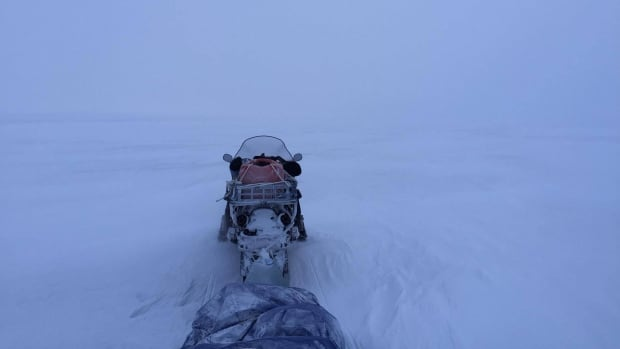 This was Bruce Inglangasuk's view for much of his journey between Kaktovik, Alaska, and Aklavik, N.W.T.